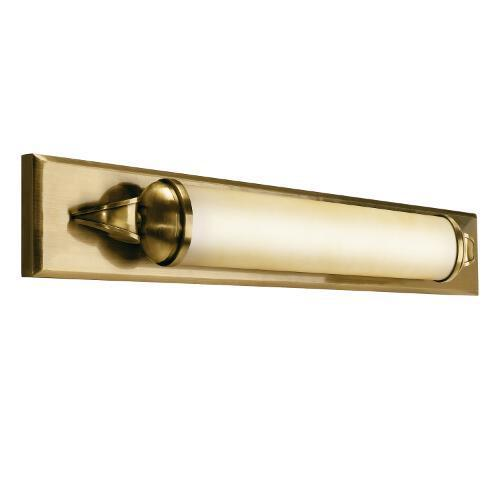 One Light Antique Brass Bathroom Sconce : 10615AB | Living Lighting  Newmarket